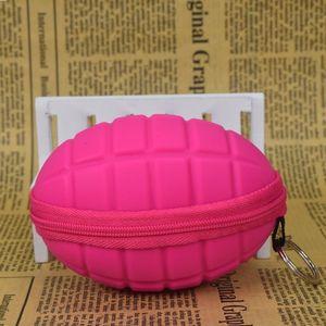Coin hand grenade Coin Bag mini Girls Purse Silicone change wallet purse women key wallet Children Kids Gifts