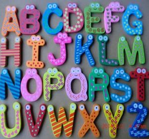 26 Harf dolabı Mıknatıslar Hayvan A-Z Ahşap Manyetik Çıkartma Alfabe dolabı Magnet Bebek Çocuk Oyuncak Ev Bahçe Dekorasyon LXL802-1