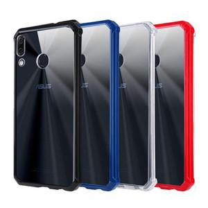 pour Asus Zenfone de ZS620KL / 5 Zenfone 2018 ZE620KL ASUS_X00QD cristal hybride acrylique dur Bumper clair Retour Couverture Phone Cases