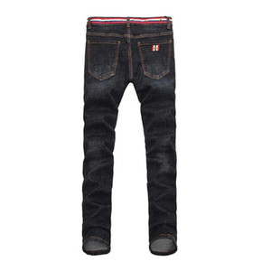 Neue Herren Jeans Europa und Amerika Style Dark Blue Bee Herren Long Jeans Casual Herren Classic Denim Hosen