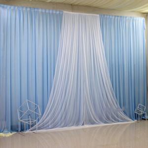 Ice Silk Tuch Garn Hintergrund Vorhang Partei Props Geburtstag Show Stage Trauung Szenen Dekoration Layout-