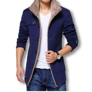 Winter Long Wool Coat Men Jackets And Coats Slim Fit Mens Windbreaker High Quality Trench Coat Plus Size 2018 Hot Sale Jacket