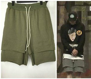 Justin Bieber Flase Zwei Männer Kreuz Hosen-Sommer-Kleidung tragen Mode lose Carpi Shorts Jogginghose Haremshose M-XL Big Yard Großhandel