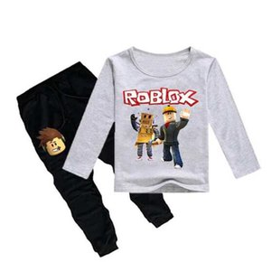 Crianças pijama crianças pijamas baby Underwear set meninos meninas Roblox Jogo Esportes terno algodão nightwear Tops + Lazer Pant