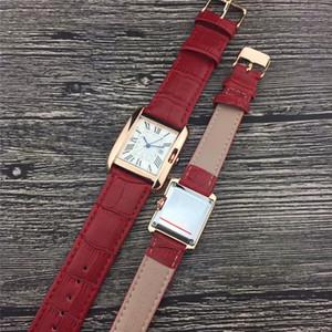Amantes Relógios Das Mulheres Dos Homens Das Senhoras banda Strap Watch Top Quartz Relógio ultra fino de Alta qualidade Simples Casal relógio de Pulso retângulo relógio presente senhora
