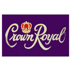 occhielli in ottone Crown Royal Flag 3x5 FT bandiera 100D 150x90cm poliestere stampa personalizzata bandierina, trasporto libero