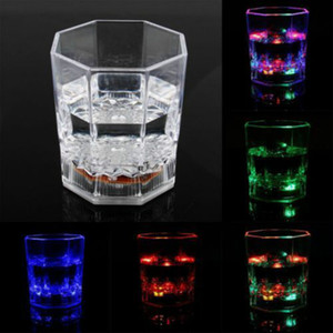 Creative Cups Coffee Tea Beer Cup LED Inductive Rainbow Color Flashing Light Glow Drink Club Bar Eco-friendly Palstic CUP