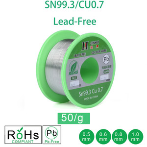 Welding Wires 50g Lead-free Solder Wire 0.5-1.0mm Unleaded Lead Free Rosin Core for Electrical Solder RoHs