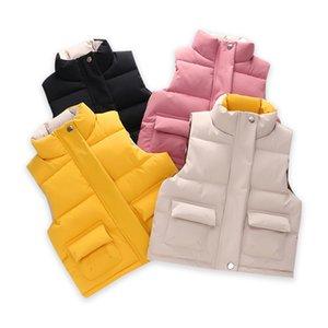 Coats kız bebek bebek kolsuz çocuklar için yelek yelek Famli Çocuk kış yelek yürümeye başlayan çocuklar ceket düşmek