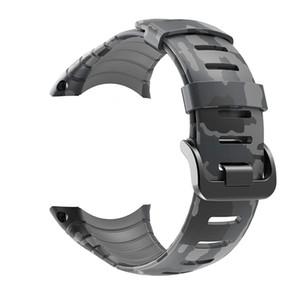 Correa Suunto Core, Banda de reloj de repuesto de caucho estampado de camuflaje gris para Suunto Core SS014993000