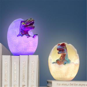 Çocuklar için Uzaktan Pat Dokunmatik Kontrol 16 Renkler hediyeler Night Light ile 3D Dinozor Oyuncak Dokunmatik Gece Işığı Abajur,