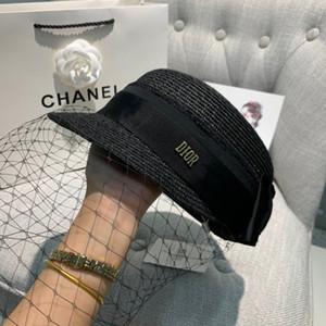 cappello di paglia nuova retro intrecciato a testa piatta paglia Lady Eaves protezione solare Sole Estate di lusso della moda 030.803