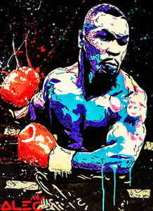 arte Alec Monopoly Graffiti Mike Tyson Home Decor pintado à mão HD Imprimir pintura a óleo sobre tela Wall Art Canvas Pictures 200202
