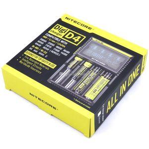 Nitecore D4 범용 디지 충전기 - ecigs 18650 18600 18350 14500 배터리 멀티 기능 ecig 배터리 충전기