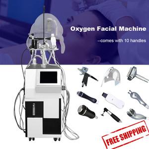 2019 oksijen yüz makine yüz maskesi Oksijen terapi püskürtme soyma oksijen yüz makinesi 10 sap iğne gun serum sprey