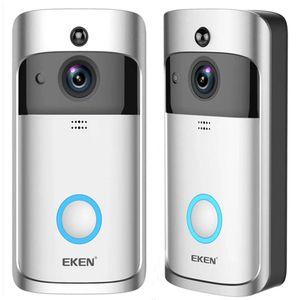 는 Eken V5 스마트 무선 비디오 초인종 카메라 비주얼 인터폰으로 차임 밤 비전 IP 도어 벨 무선 홈 보안 카메라