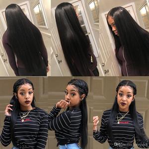 Parrucca Wigi 13x6 Pizzo anteriore umana Etero 30 32 pollici lunga parrucca Glueless Pre pizzico brasiliano frontale parrucca per Black Women