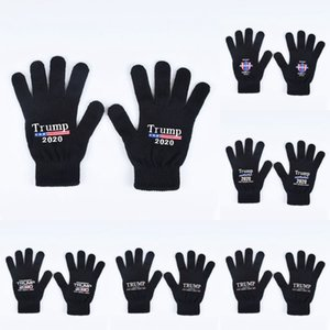 Trump 2020 Gloves Keep America Great Letter Printed Five Finger Gloves Outdoor Sports Winter Warm Girls Mittens 2pcs pair LJJO7505