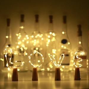 Noel Partisi Düğün Dekor 1M 10 LED Lamba Mantar Şeklinde Şişe Stopper Işık Cam Şarap EEA1155 İçin Su geçirmez LED Bakır Tel Işıklar
