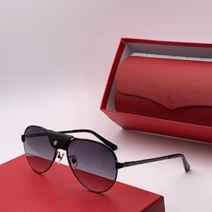 Toptan-Tasarımcı güneş gözlüğü 0034 basit Yarım çerçeveli Gözlük Avant-garde Stil Top Kalite Bestselling Gözlük UV400 Koruma Kutusu ile