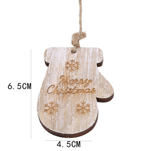 Christmas Boots Hanging Drop Ornament 2019 Hot Sale Wood Color Christmas Gloves Roller Skates Decorative Pendant