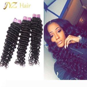 JYZ Malaysian Deep Wave Virgin Hair 3 Bundles Brazilian Deep Wave Peruvian Hair Weave Curly Weave Human Hair Bundles