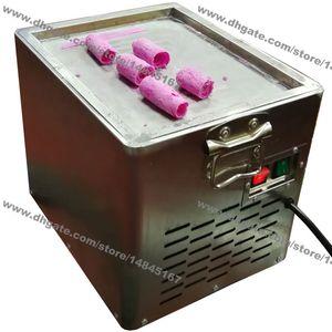 Frete grátis Pequenas Utilização Doméstica 110v 220v Elétrica Tailandês Frigideira de sorvete Rolou Frito sorvete de Iogurte Máquina de Rolo Maker