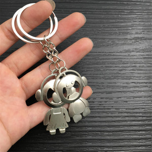2020 New 2Pcs Couple Key Chain Ring Boy&Girl Keychain Keyring Set Bottle Opener Key chain
