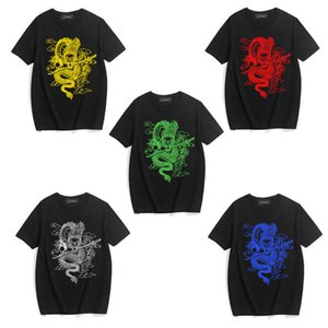 Zsiibo men's designer T-shirt China Dragon print T-shirt street style hip hop men's and women's T-shirt dydhgmc211