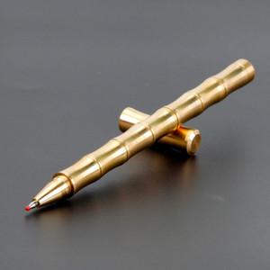 جديد الخيزران مشترك التكتيكي براس هلام الأقلام المعدنية اليدوية توقيع القلم مكتب المدرسة القرطاسية الأعمال شحن مجاني