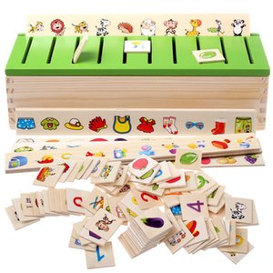 Montessori Early Educational Puzzles Toys Children Intelligence Learning Puzzle Wooden Creature 3D Kids Sorting Math Puzzle MX200414