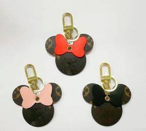 Новый роскошный брелок, разработанный лучшими дизайнерами, высококачественный кожаный мультфильм Микки брелок, подарок для пары, подвеска для женской сумки, подвеска для ключей автомобиля