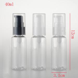50pcs, 40ml Reisegröße Leere Hand Sanitizer Flasche nachfüllbare Mini Parfüm-Flasche aus Kunststoff Pump Shampoo Probe Kleine Flasche