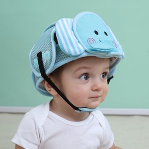 Meihuida Baby Cotton Foam Cute Catroon Animal Toddler Kids Adjustable Soft Safety Head Protection Cap