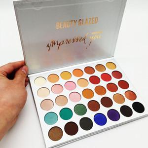 Красота глазурованная 35 цветов палитра теней для век макияж под впечатлением тени для век матовые мерцающие палитры теней для век бренд косметика бесплатная доставка