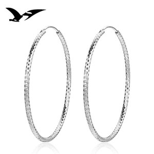 S925 Sterling Silver Earrings Exaggerate Big Earrings Big Girls Fashion Personality Silver Jewelry Wholesale