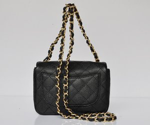 yangzizhi7 High Quality Classic Mini 1115 Shoulder Flap Bag Caviar Leather Plaid Chain Bag With Gold Hardware Woman's