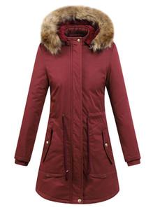 Frauen Designer Wintermäntel beiläufigen Normallack mit Kapuze Daunen Parka Thick Cotton Frau Oberbekleidung Long Length Tops