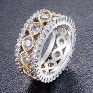 2020 High Best4UU Золотой Стиль Простые Слегка Вставленные Кольца Дрель Full Circle Punk партии кольца ювелирные изделия для женщин