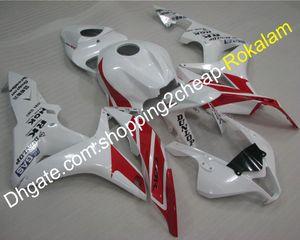 Carenado personalizado para Honda CBR600RR F5 2007 2008 CBR600F5 600RR RR 07 08 CBR Kit de carenados de motocicleta blanco rojo (moldeo por inyección)