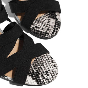 Hot Sale-LEOPARD LANd High Heels Thin Heels, Loose and Serpentine Women's Sandals 37 / 43 Size