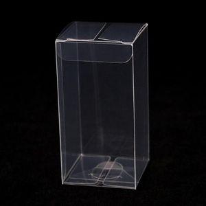 Caja de plástico transparente Macaron Box 5cmx5cmx8cm Anti Scratch Wedding Party Sweet Package Holder Recepción Suministros ZC1138