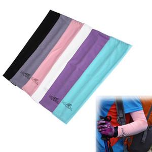 EU Stock Anti UV Protection mangas Sports Sun Bloco de condução ao ar livre braço luva de refrigeração da luva Covers 2pcs / pair OOA8103