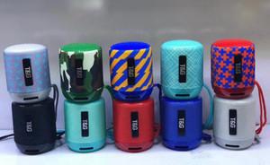 Nuovo subwoofer wireless portatile TG-129 Bluetooth Mini Altoparlante Altoparlanti stereo esterni con lettore MP3 Mic Slot MP3 TF Slot