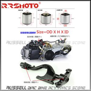 Motor de absorción del eje del buje suspensión de 8 mm 10 mm Medio manga para Gy6 ciclomotor scooter Go Kart ATV 50cc 125cc 150cc