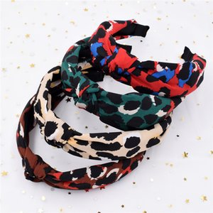 Hair Bands Europe And Hair Accessories Beads Hair Bands Leopord Sponge Fleece Headband America Headband Scrunchie