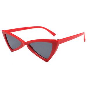Triangle Box Cat Eye Sunglasses 12 Color Retro Sexy Glasses Mujer Moda Gafas de sol Triangle Glasses Cat Eye Sunglasses HD Lens Send Box