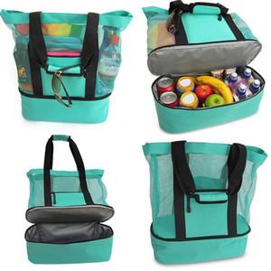 في الهواء الطلق نزهة حقيبة 4 ألوان شاطئ التخييم متعدد الوظائف سعة كبيرة حقائب الغداء المحمولة في الهواء الطلق حقيبة السفر OOA7472-7