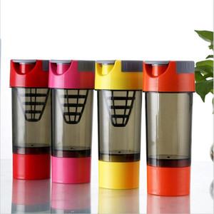 Albumin Pulver Milchshake Shake Cup Runde Bewegung Zyklon reine Farbe Shaker Flasche umweltfreundliche wiederverwendbare heißer Verkauf 10zh J1
