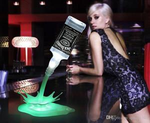 Şarap 3D Şarj edilebilir USB Dokunmatik Anahtarı Fantezi Şarap Dekorasyon Bar Parti Lambası Şişe dökün lamba Gece aydınlatması LED Şarap dökün yenilik